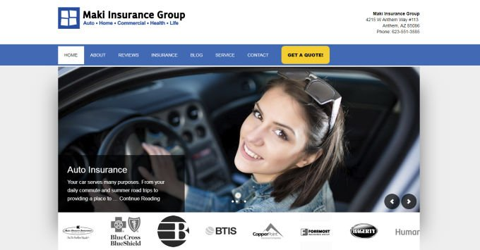 New Maki Insurance Group Website